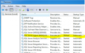 Windows Service sql agent status