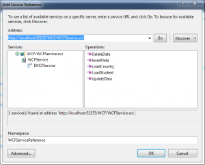 Add WCF Service Reference